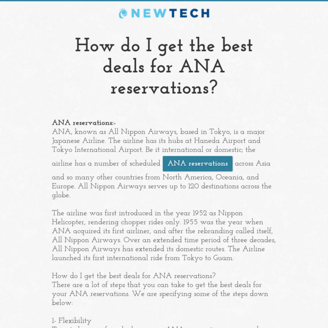 How do I get the best deals for ANA reservations?