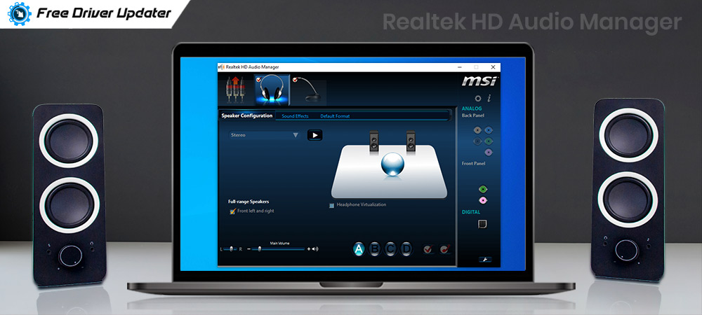 Realtek HD Audio Manager Download and Reinstall for Windows 10, 8, 7