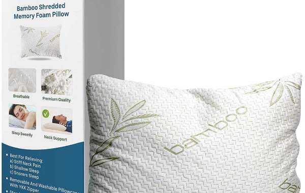 THESE SHREDDED MEMORY FOAM PILLOW CONTROL THE TEMPERATURE