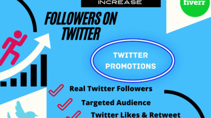 Do twitter promotion and increase followers organically by Techpro8 | Fiverr