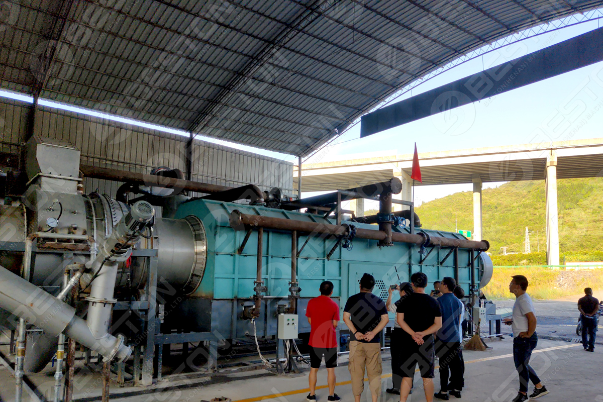 Government Officials Came to Visit Beston Charcoal Making Machine in Guizhou, China - Beston Group